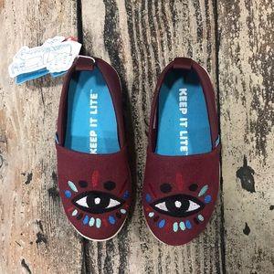 Native kids evil eye slip on shoes